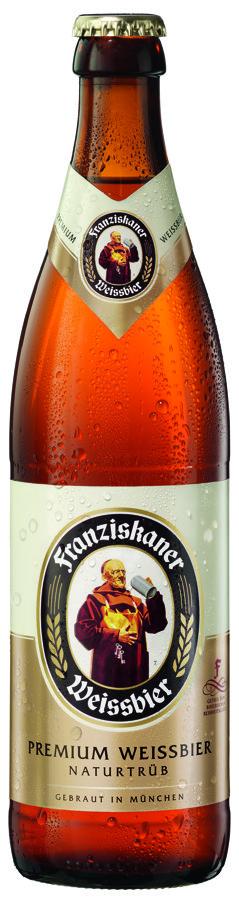 Franziskaner Hefe 5% 0.5l, iepak. 20 gab