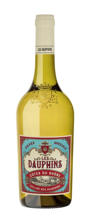 Les Dauphins Cotes du Rhone Blanc 12.5% 0.75l