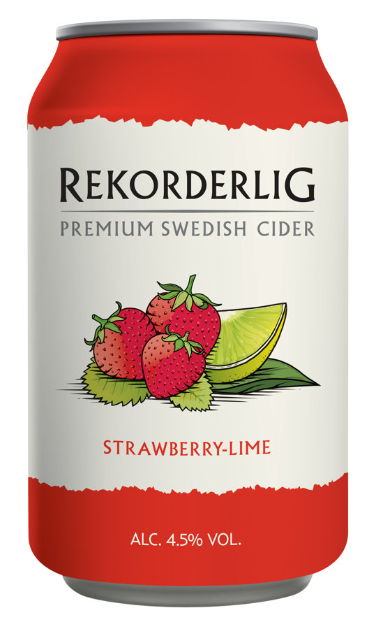 Rekorderlig Strawberry Lime 4.5% 0.33l, iepak. 24 gab