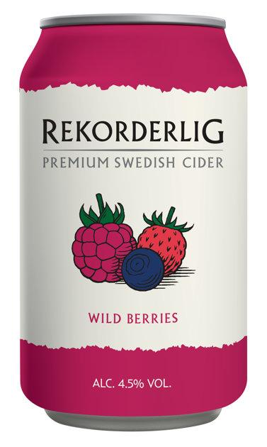 Rekorderlig Wildberries 4.5% 0.33l, iepak. 24 gab